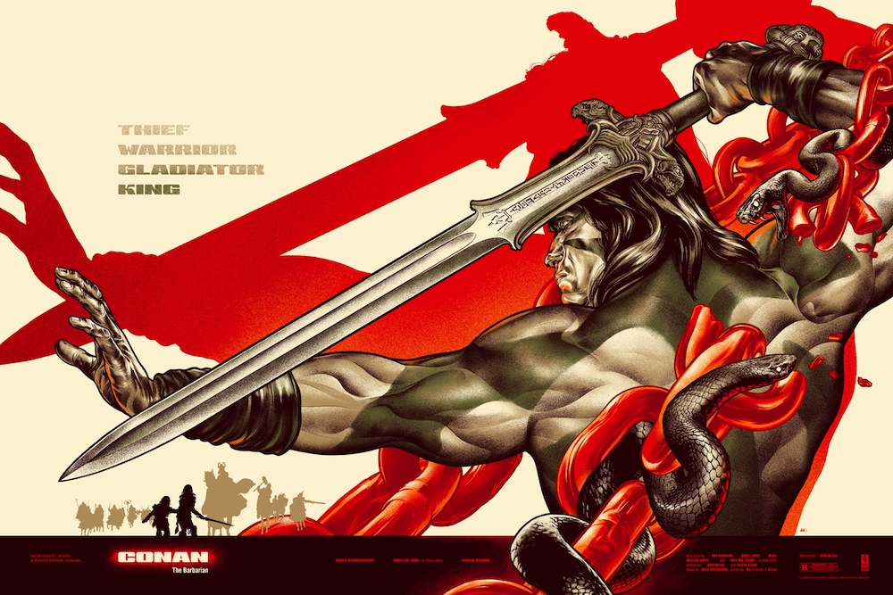 "「コナン・ザ・グレート(レギュラー)」CONAN  Regular by Martin Ansin Size: 24"" x 36"" Edition: 450 US"