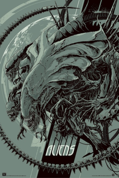 「エイリアン2」バリアント Aliens Variant by Ken Taylor 24″ x 36″ Edition of --- US$75