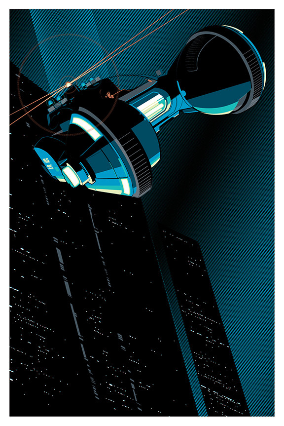 "Spinner"" Vertical Posters by Craig Drake. 24″x36″ 8 Color screen prints. US$55"