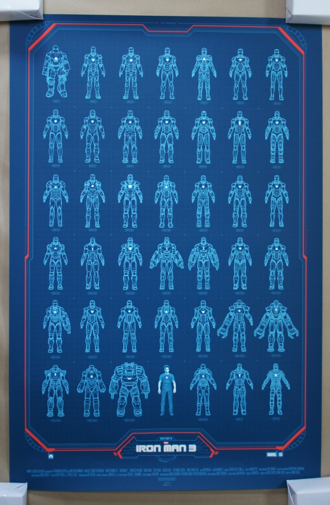 「アイアンマン3 -アーマリー-」Iron Man 3 -Armory- by Phantom City Creative 24″ x 36″ Edition of 250