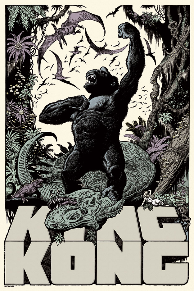 「キングコング」 King Kong by William Stout Edition of 325 US$50