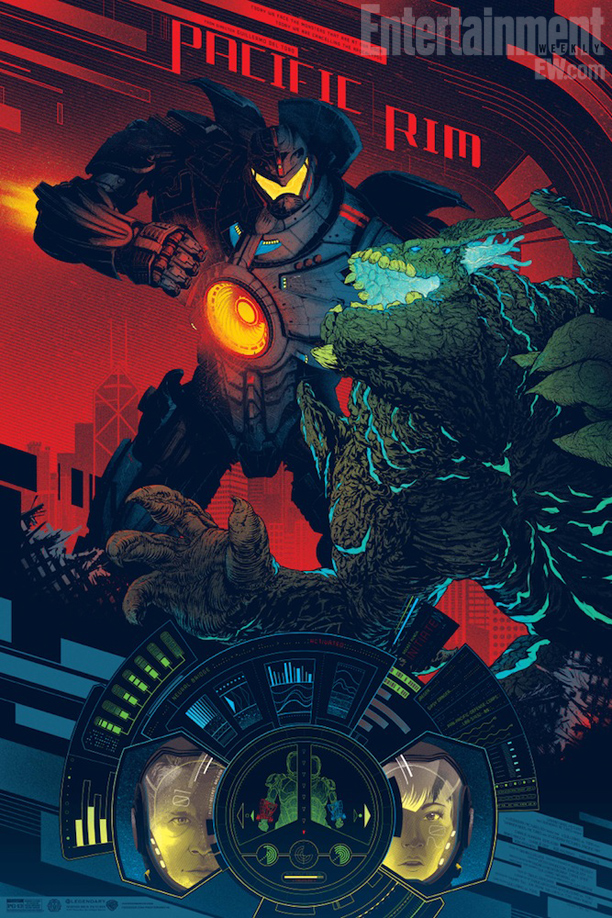 "「パシフィック・リム」PACIFIC RIM  by Kevin Tong Size: 24"" x 36"" Edition: 375 Regular, 200 Variant US$45 Regular, US$$75 Variant"