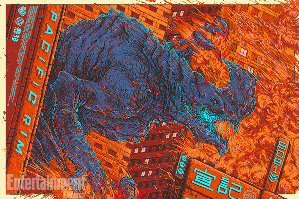 "「パシフィック・リム(怪獣)」PACIFIC RIM (Kaiju)  by Ash Thorp Size: 24"" x 36"" Edition: 350 US$50"