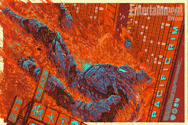 "「パシフィック・リム(イエーガー)」PACIFIC RIM (Jaeger) by Ash Thorp Size: 24"" x 36"" Edition: 350 US$50"