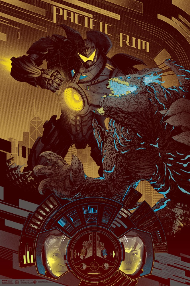 "「パシフィック・リム」バリアント PACIFIC RIM Variant by Kevin Tong Size: 24"" x 36"", Edition: 200 US"