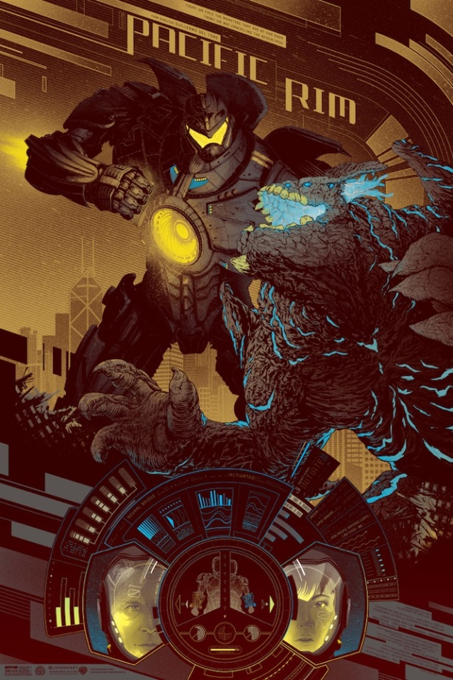 "「パシフィック・リム」バリアント PACIFIC RIM Variant by Kevin Tong Size: 24"" x 36"", Edition: 200 US$75"