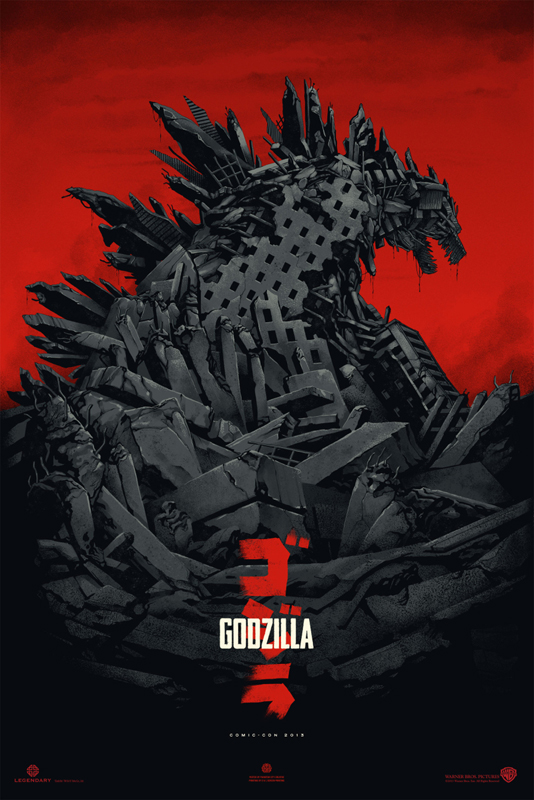 「ゴジラ」レギュラー Godzilla by Phantom City Creative 24″ x 36″ Edition of 275 $45