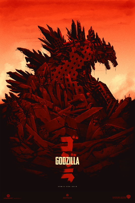 Godzilla (Variant) by Phantom City Creative 24″ x 36″ Edition of 100 $70