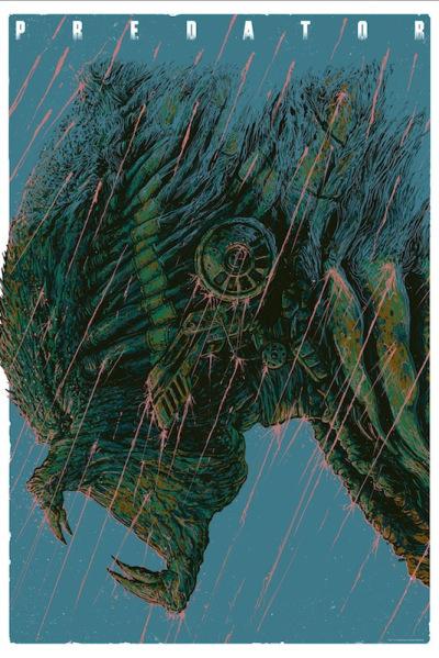 「プレデター」バリアント Predator Variant by  Ash Thorp 24″ x 36″ Edition of --- US$75