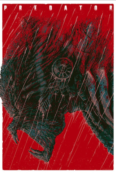 「プレデター」レギュラー Predator Reguler by  Ash Thorp 24″ x 36″ Edition of --- US$50
