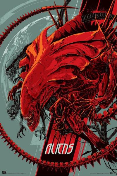 「エイリアン2」レギュラー Aliens Reguler by Ken Taylor 24″ x 36″ Edition of --- US$50