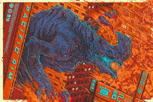"「パシフィック・リム(カイジュウ)」 Pacific Rim (Kaiju) Poster by Ash Thorp.  24""x36"" screen print. Hand numbered. Edition of 350. Printed by D&L Screenprinting.  US$50"