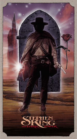 "「ザ・ダーク・タワー」THE DARK TOWER Poster by Drew Struzan.  20""x36"" screen print.  Hand numbered. Signed by Drew Struzan.  Edition of 450. Printed by D&L Screenprinting.  US$275"