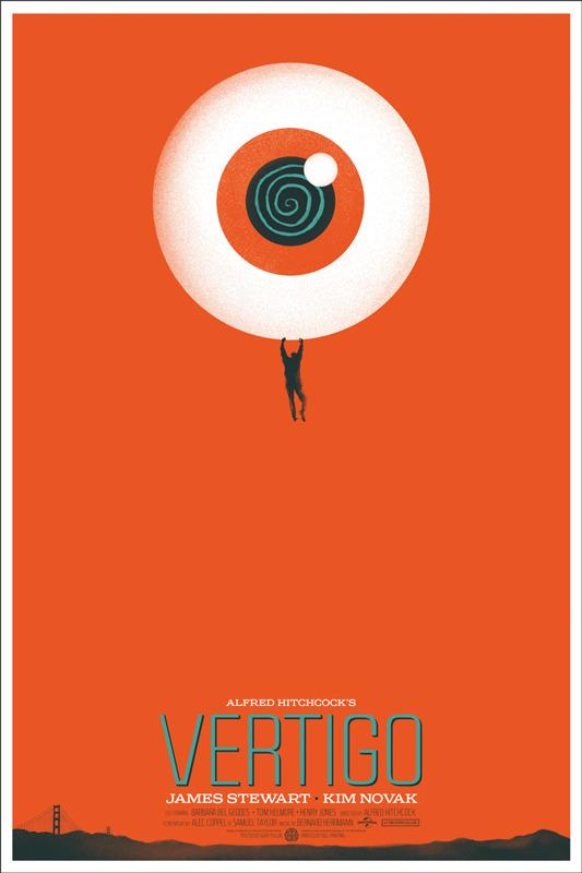 """「めまい」 Vertigo Poster by Ghoulish Gary Pullin.  24""""x36"""" screen print. Hand numbered. Edition of 240. Printed by D&L Screenprinting.  US$40"""