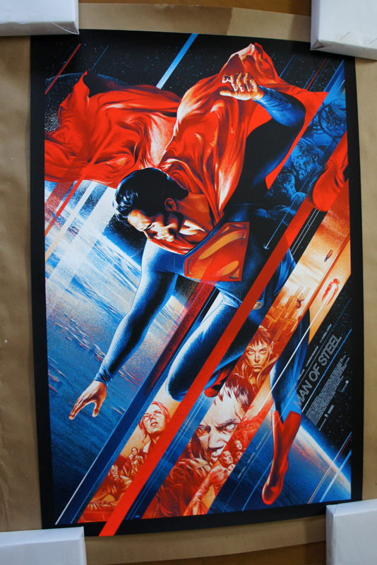 「マン オブ スティール」レギュラー  Man Of Steel – Reguler Poster by Martin Ansin 24″x36″ Edition: 5,585