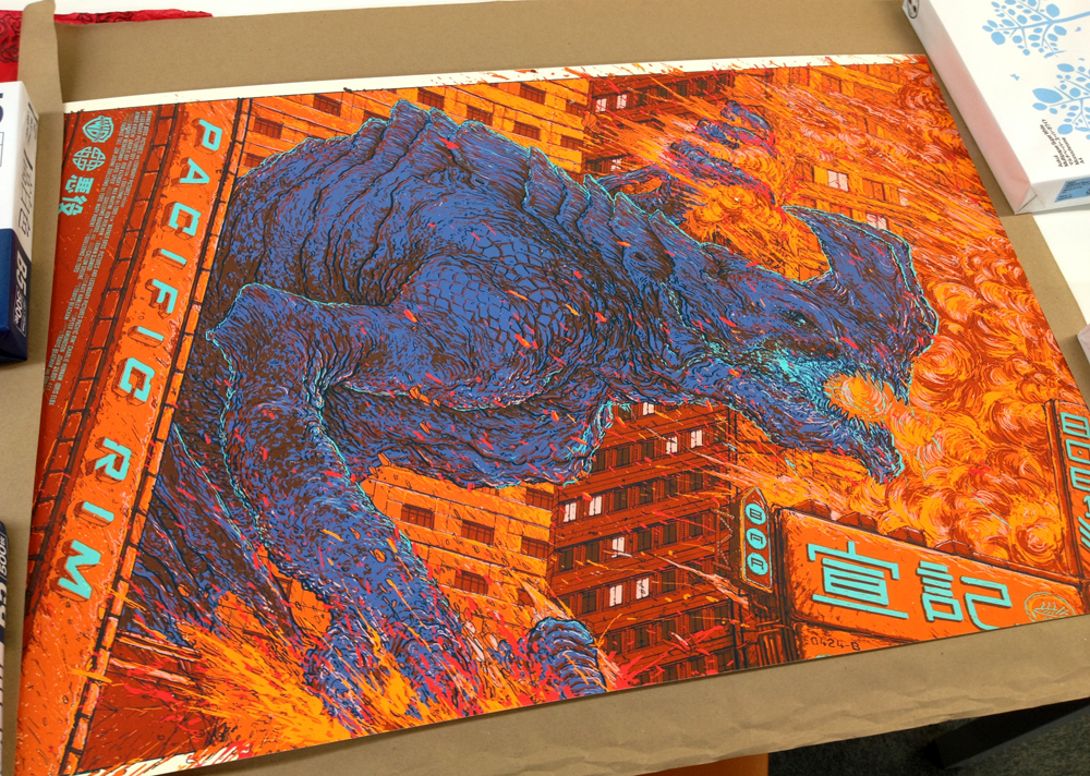 「パシフィック・リム(オオタチ)」 Pacific Rim (otachi) Poster by Ash Thorp. 24″x36″ screen print. Hand numbered. Edition of 350. Printed by D&L Screenprinting.