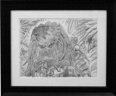 「ハンター(ペンシル)」Hunter (Pencil) by Jason Edmiston Pencil on Transparent Paper 16 1/2 x 12 1/2 US0