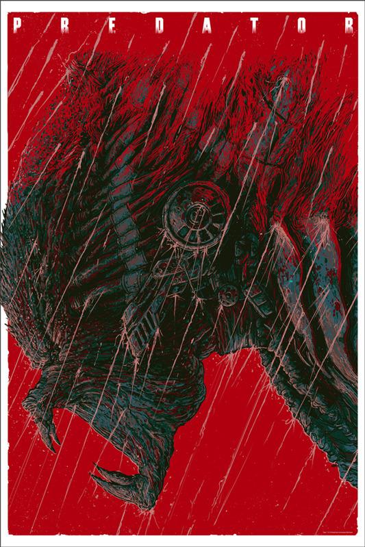 """「プレデター」PREDATOR Poster by Ash Thorp.  24""""x36"""" screen print. Hand numbered. Signed by Ash Thorp.  Edition of 325. Printed by D&L Screenprinting.  US$50"""