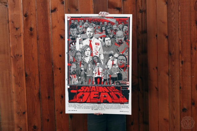 「ショーン・オブ・ザ・デッド」バリアント Shaun of the Dead – Varient Poster by Tyler Stout 24″x36″ Edition: 300 US$110