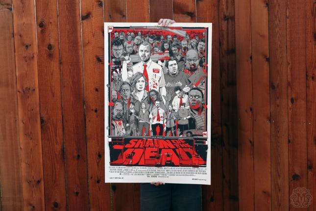 「ショーン・オブ・ザ・デッド」バリアント Shaun of the Dead – Varient Poster by Tyler Stout 24″x36″ Edition: 300 US$110