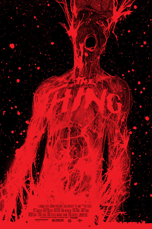 "「遊星からの物体X」THE THING Poster by Jock.  24""x36"" screen print. Hand numbered. Signed by Jock.  Edition of 325. Printed by D&L Screenprinting.  US$45"