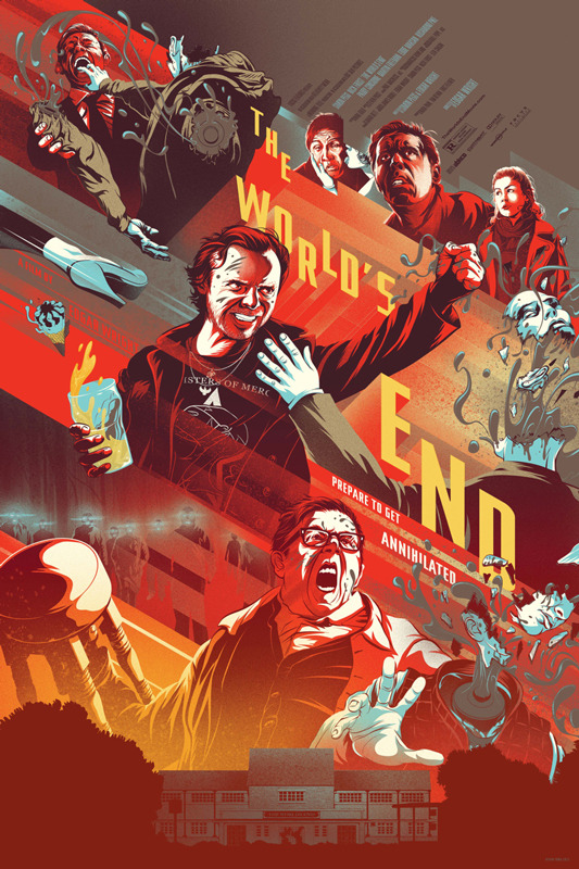 「ザ・ワールド・エンド」バリアント The World's End – Reguler Poster by Kevin Tong. 24″x36″ Edition: 115 US$65
