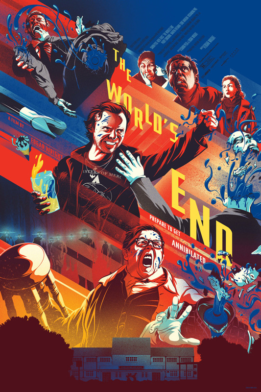 「ザ・ワールド・エンド」レギュラー The World's End – Reguler Poster by Kevin Tong. 24″x36″ Edition: 290 US$45