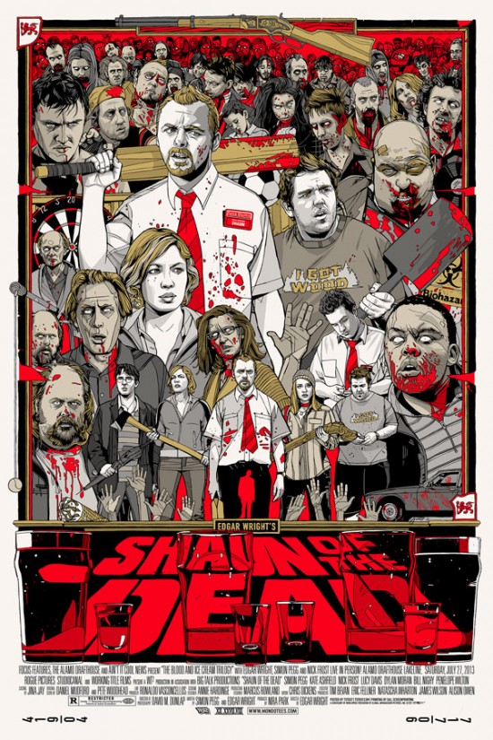 「ショーン・オブ・ザ・デッド」レギュラー Shaun of the Dead – Reguler Poster by Tyler Stout 24″x36″ Edition: 710 US$60