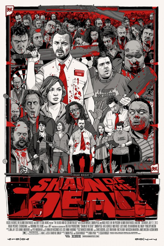 「ショーン・オブ・ザ・デッド」バリアントShaun of the Dead – Varient Poster by Tyler Stout 24″x36″ Edition: 300 US$110