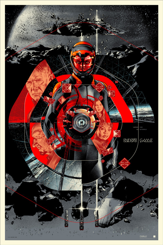 "「エンダーのゲーム」ENDER'S GAME Regular Poster by Martin Ansin.  24""x36"" screen print. Hand numbered. Edition of 340.  Printed by D&L Screenprinting.  US$50"