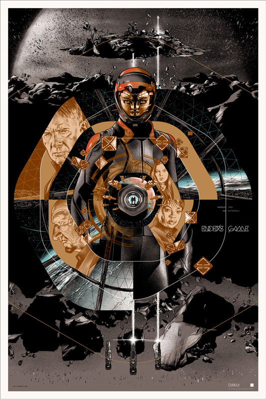 "「エンダーのゲーム」ENDER'S GAME Varient Poster by Martin Ansin.  24""x36"" screen print. Hand numbered. Edition of 160.  Printed by D&L Screenprinting.  US$75"