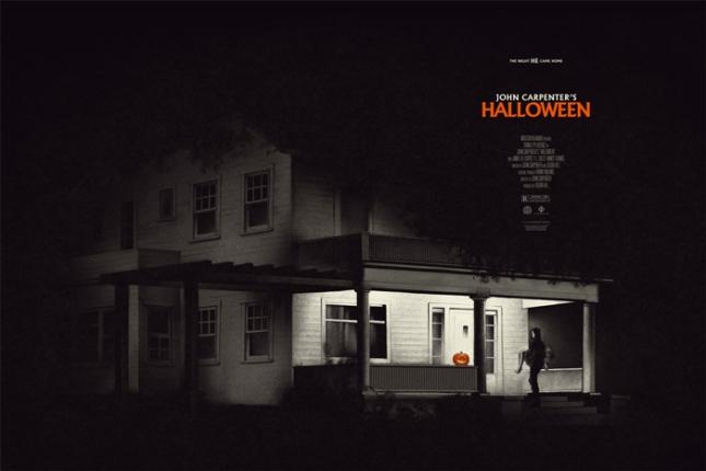 """「ハロウィン」レギュラー HALLOWEEN Regular Poster by Phantom City Creative.  36""""x24"""" screen print. Hand numbered. Edition of 325.  Printed by D&L Screenprinting.  US$45"""
