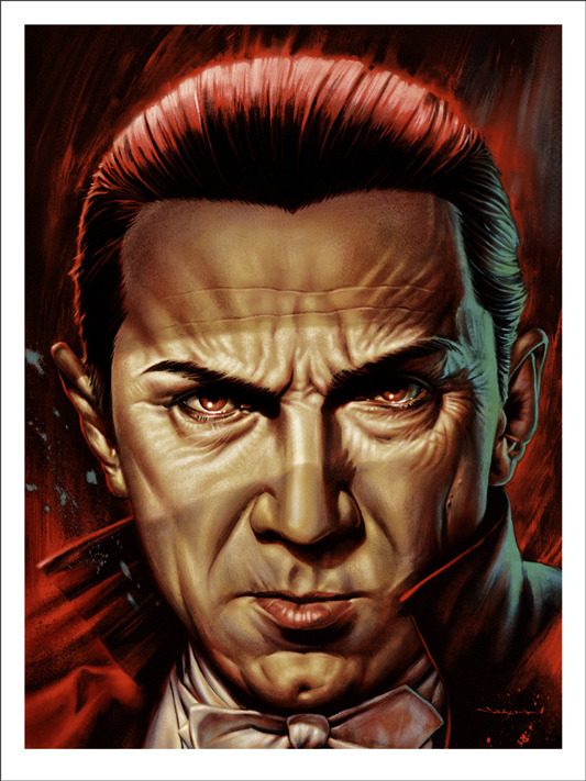 "「ベラ・ルゴシ」Bela Lugosi Poster by Jason Edmiston.  18""x24"" screen print.  Hand numbered. Edition of 175.  Printed by D&L Screenprinting.  US$45"