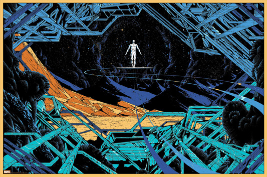 "「シルバーサーファー」The Silver Surfer Poster by Kilian Eng.  36""x24"" screen print. Hand numbered. Edition of 275."