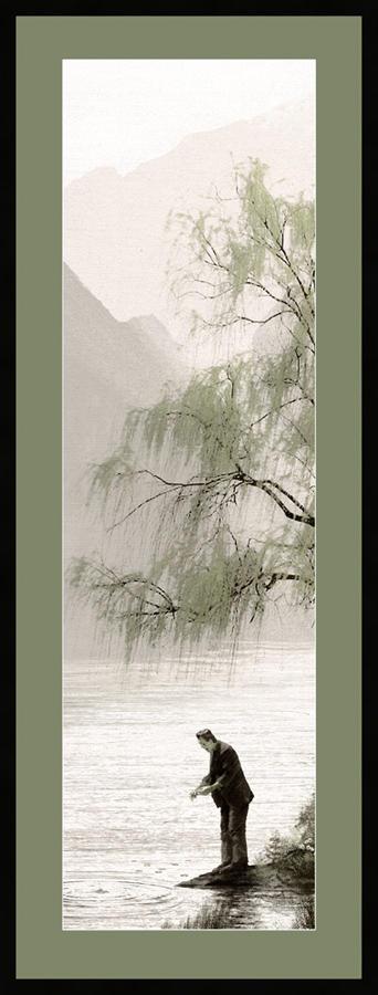 """「フランケンシュタイン」Pretty Things Float (Frankenstein) Poster by JC Richard.  8""""x24"""" screen print. Hand numbered. Edition of 375."""