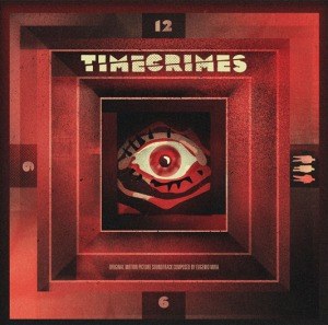 「タイム クライムス」サウンドトラックLP TIMECRIMES SoundTrack LP  Original music by Eugenio Mira. Packaging design by We Buy Your Kids. Single LP in deluxe gatefold jacket pressed on 180 gram black vinyl and randomly inserted milky yellow / clear vinyl.