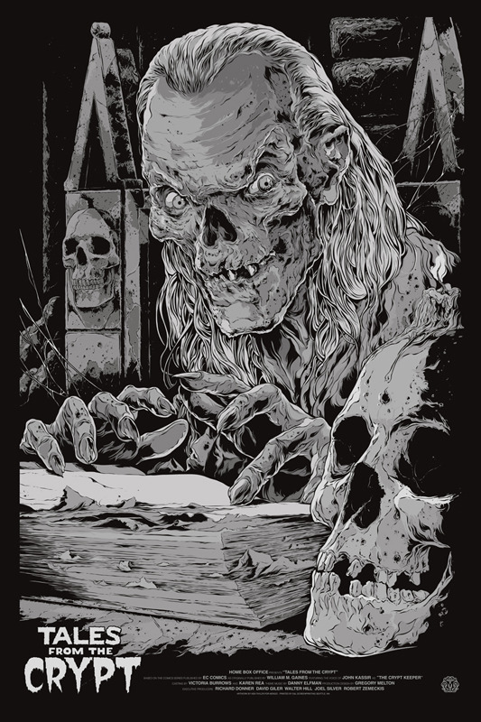 "Tales from the Crypt (Variant) Poster by Ken Taylor.  24""x36"" screen print.  Hand numbered. Edition of 105.  Printed by D&L Screenprinting.  US$65"