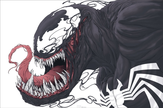"「ヴェノム」Venom Poster by Randy Ortiz.  24""x36"" screen print. Hand numbered.  Edition of 325. Printed by D&L Screenprinting."