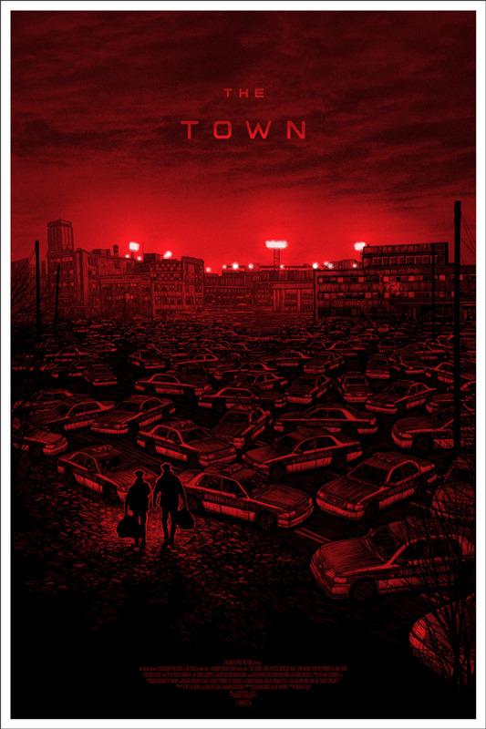 """「ザ・タウン」レギュラー  THE TOWN Regular Poster by Daniel Danger.  24""""x36"""" screen print. Hand numbered.  Edition of 390. Printed by D&L Screenprinting.  US$45"""
