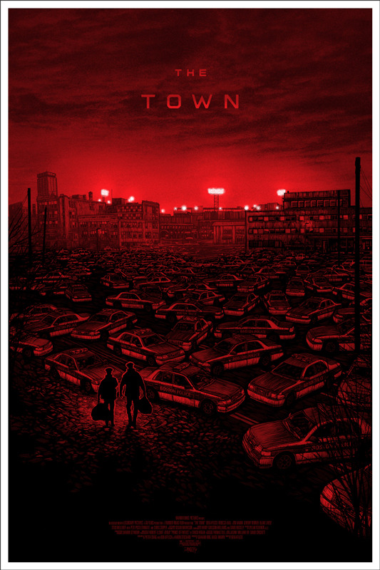 "「ザ・タウン」レギュラー  THE TOWN Regular Poster by Daniel Danger.  24""x36"" screen print. Hand numbered.  Edition of 390. Printed by D&L Screenprinting.  US$45"