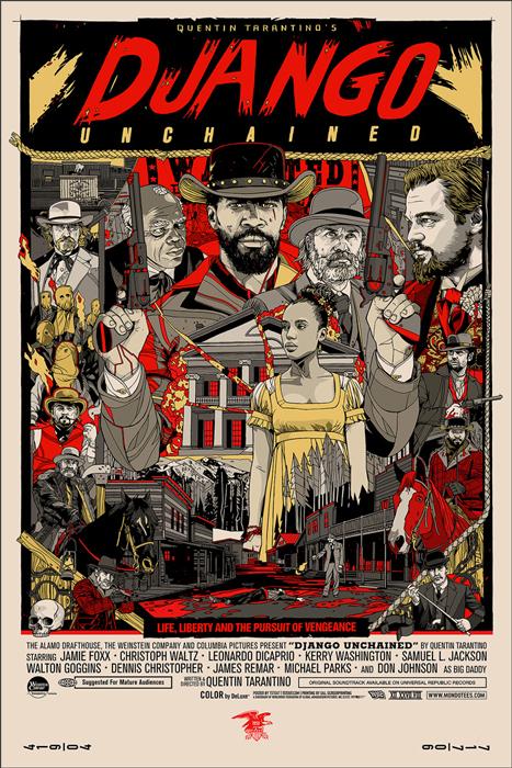 「ジャンゴ 繋がれざる者」Django Unchained Poster By Tyler Stout