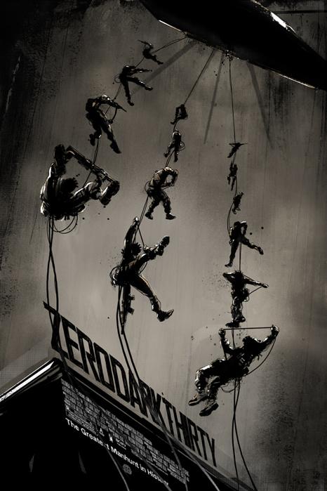 「ゼロ・ダーク・サーティー」Zero Dark Thirty Poster By Jock
