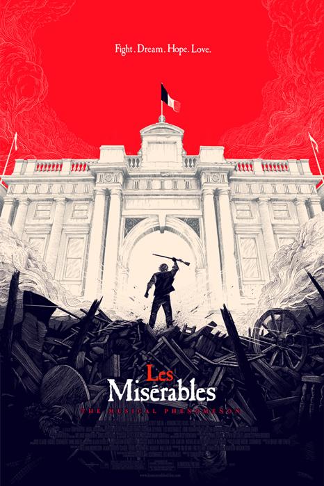 「レ・ミゼラブル」Les Miserables Poster By Olly Moss