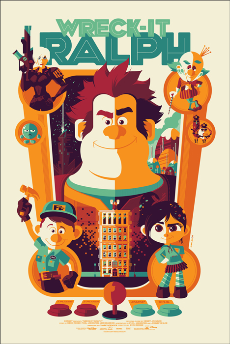 「シュガーラッシュ」Wreck-It Ralph Poster By Tom Whalen