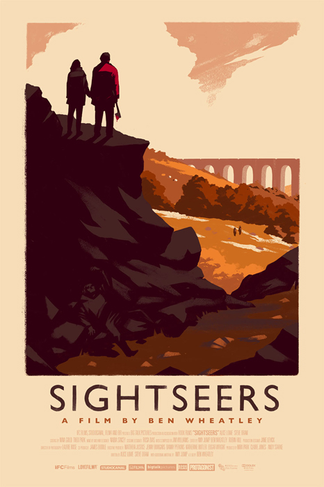 「サイトシアーズ」バリアント Sightseers Variant Poster by Olly Moss. 16″x24″ screen print. Hand numbered. Edition of 125. Printed by D&L Screenprinting.