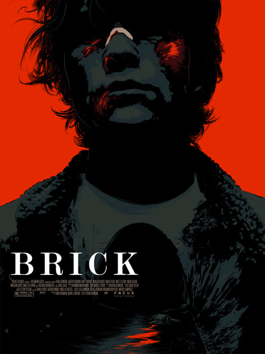 "「ブリック」 BRICK Poster by Matt Taylor.  18""x24"" screen print. Hand numbered. Edition of 185.  Printed by D&L Screenprinting.  US$40"