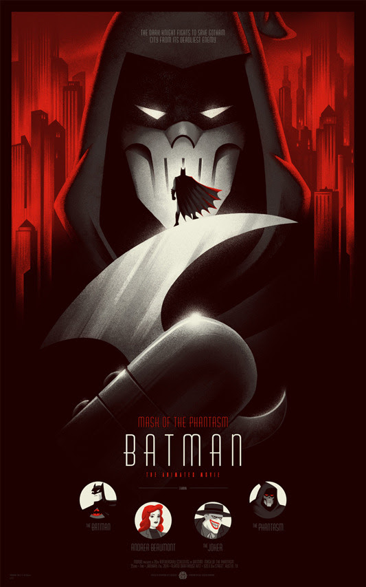"「バットマン/マスク・オブ・ファンタズム」 BATMAN Mask Of The Phantasm Poster Regular  by Phantom City Creative 16""x24"" screen print. Hand numbered Edition of 325 Printed by D&L Screenprinting US"