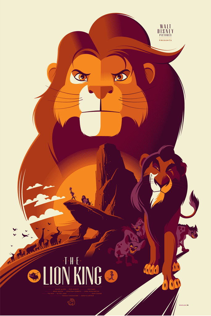 「ライオンキング」The Lion King Poster by Tom Whalen