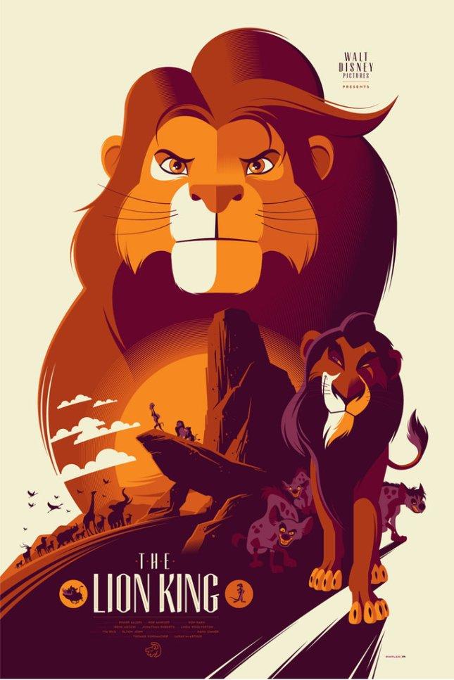 「ライオンキング」The Lion King Poster by Tom Whalen