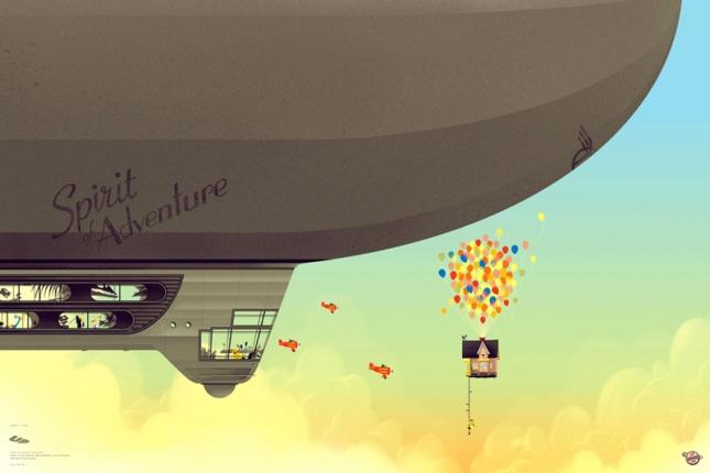 「カールじいさんの空飛ぶ家」Up  Posterby Kevin Tong